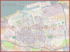 Подробная карта города Кале