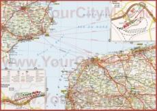 Подробная карта Па-де-Кале