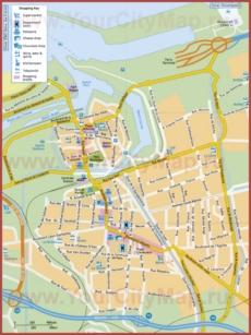 Туристическая карта Кале с достопримечательностями