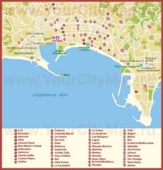 Карта отелей Канн