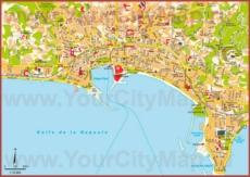 Туристическая карта Канн с достопримечательностями