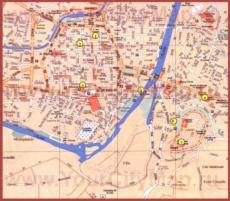 Туристическая карта Каркассона с достопримечательностями