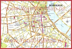 Карта Бордо с достопримечательностями