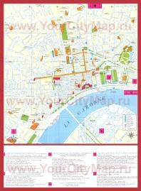 Туристическая карта города Бордо