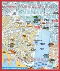 Карта центра города Марсель