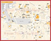 Карта Марселя с достопримечательностями