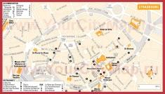 Карта Страсбурга с достопримечательностями