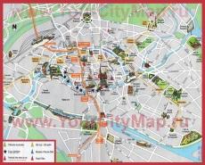 Туристическая карта города Страсбург