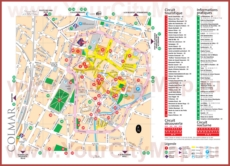 Туристическая карта Кольмара с достопримечательностями