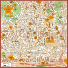 Туристическая карта Лилля с достопримечательностями