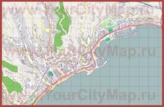 Подробная карта города Ментон
