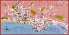 Туристическая карта Ментона с достопримечательностями