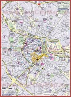 Карта Монпелье с достопримечательностями