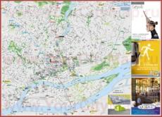 Подробная туристическая карта города Нант с достопримечательностями