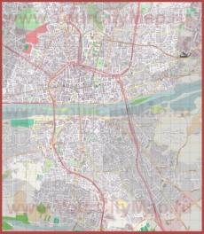 Подробная карта города Орлеан