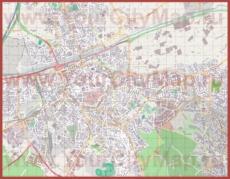 Подробная карта города Перпиньян