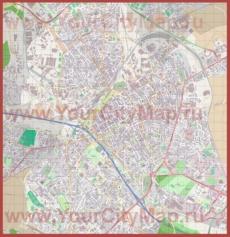 Подробная карта города Реймс