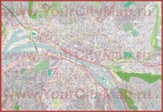 Подробная карта города Руан
