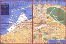 Подробная туристическая карта города Сан-Тропе