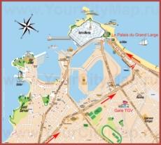 Подробная туристическая карта Сен-Мало