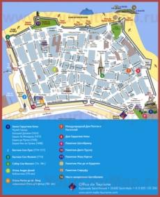 Туристическая карта Сен-Мало с достопримечательностями