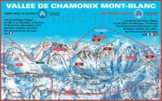 Горнолыжная карта Шамони с трассами