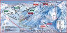 Подробная карта горнолыжного курорта Шамони