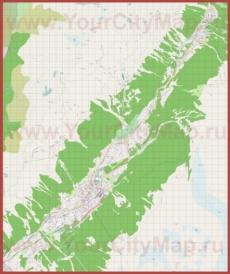 Подробная карта города Шамони