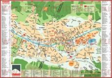 Подробная туристическая карта Шамони