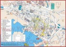 Туристическая карта Тулона с достопримечательностями