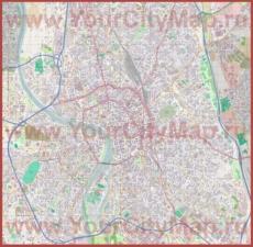 Подробная карта города Тулуза