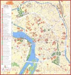Подробная туристическая карта города Тулуза с достопримечательностями