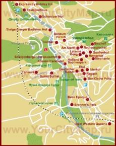 Карта отелей Баден-Бадена