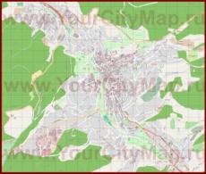 Подробная карта города Баден-Баден