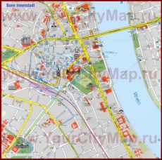 Карта Бонна с достопримечательностями