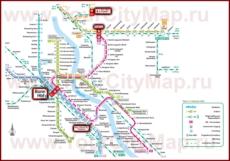 Карта маршрутов транспорта Бонна
