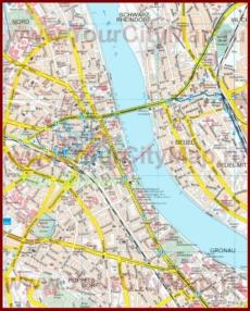 Туристическая карта Бонна
