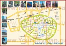 Карта центра Дортмунда с достопримечательностями