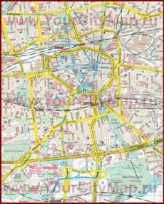Туристическая карта Дортмунда с достопримечательностями