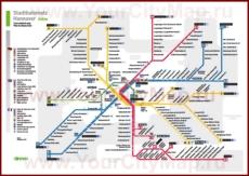 Карта маршрутов транспорта Ганновера