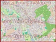 Подробная карта города Ганновер