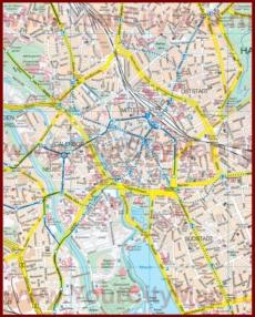 Туристическая карта Ганновера с достопримечательностями