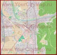Подробная карта города Гейдельберг