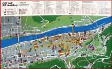 Туристическая карта Гейдельберга с достопримечательностями