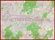 Подробная карта города Карлсруэ