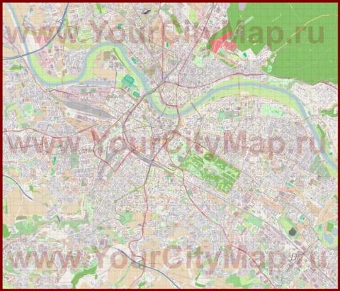 Подробная карта города дрезден