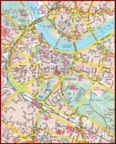 Туристическая карта Дрездена