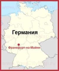 Франкфурт-на-Майне на карте Германии