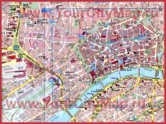 Карта Франкфурта-на-Майне с достопримечательностями