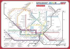 Карта метро Гамбурга